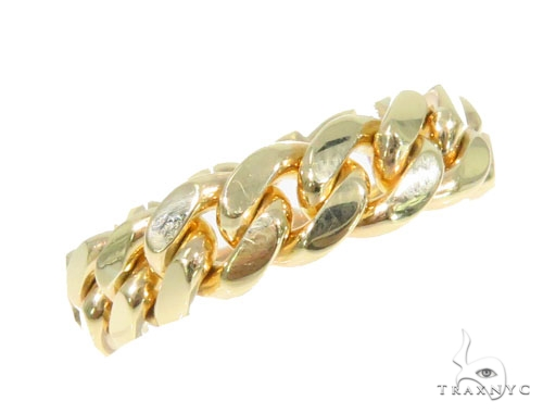 10k Gold 7mm Miami Cuban Link Ring 44393 Metal