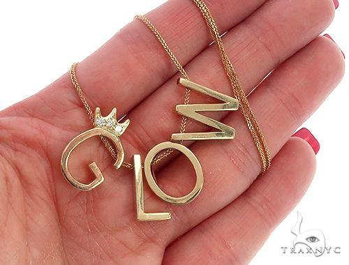 10k Yellow Gold Custom 'Glow' Necklace 65092 Women Specials