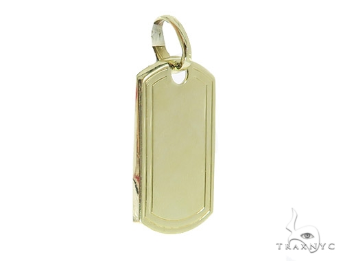 10k Yellow Gold Dog Tag 49736 Gold