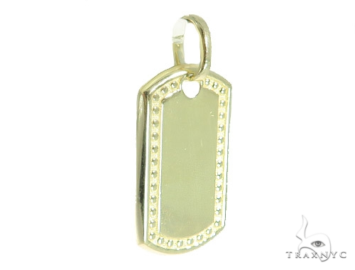 10k Yellow Gold Dog Tag 49747 Style