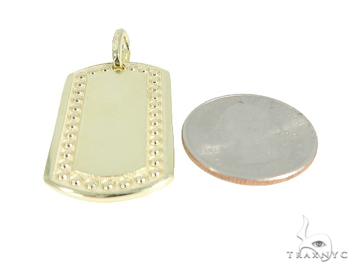 10k Yellow Gold Dog Tag 49748 Metal