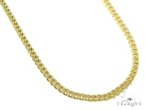10k Yellow Gold Franco Chain 30 Inches 3mm 21.2 Grams 44680 Gold