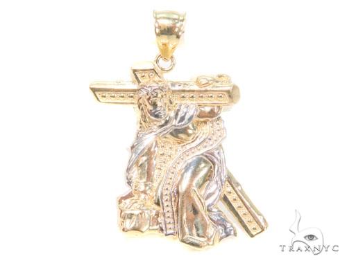 10k Yellow Gold Jesus Crucifix Crossion Pendant 44278 Metal