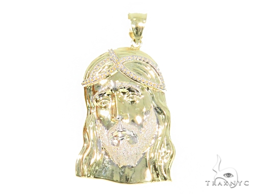 10k Yellow Gold Jesus Pendant 44396 Metal