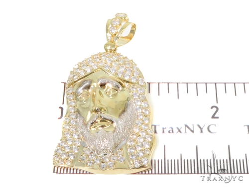 10k Yellow Gold Jesus Pendant 44397 Metal