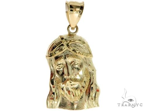 10k Yellow Gold Jesus Pendant L 44433 Metal
