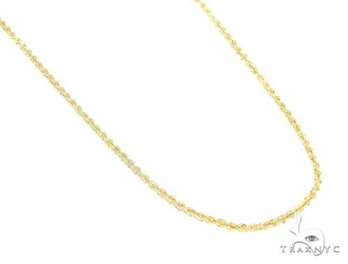 10k Yellow Gold Jesus Rope Chain Set 44401 Style