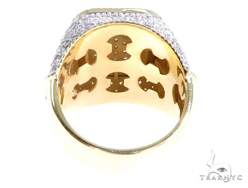 10k Yellow Gold Men's Cluster Diamond Jubilee Ring 65150 Stone