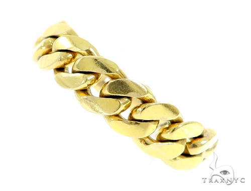 14k Gold 6mm Miami Cuban Link Ring 43375 Metal