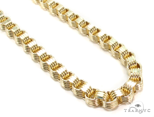 10k Yellow Gold Rolo Fancy Link Chain 26 Inches 5mm 38.2 Grams Gold