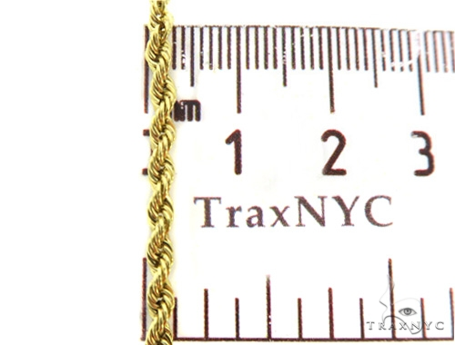 10k Yellow Gold Rope Chain 16 Inches 3mm 4.1 Grams 49458 Gold