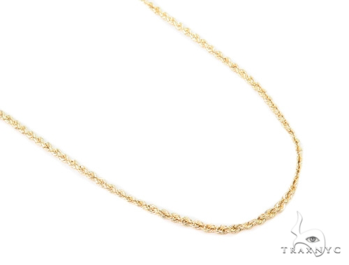 10k Yellow Gold Rope Chain 22 Inches 2.5mm 4.8 Grams 44237 Gold