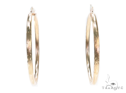 10k Yellow Hoop Earrings 42959 Style