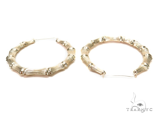 10k Yellow Hoop Earrings 42962 Style