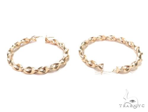 10k Yellow Hoop Earrings 42963 Style