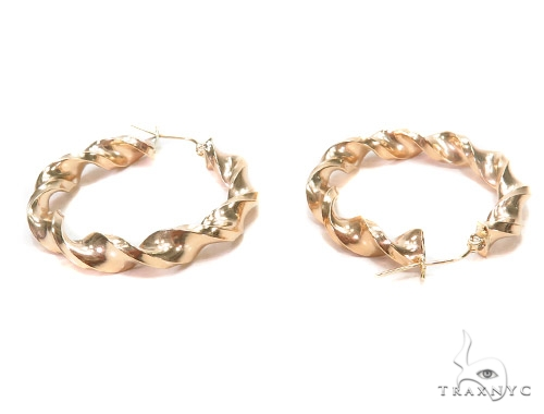 10k Yellow Hoop Earrings 42964 Style
