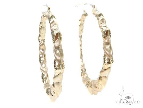10k Yellow Hoop Earrings 42965 Style