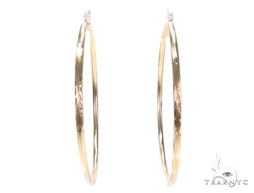 10k Yellow Hoop Earrings 42966 Style