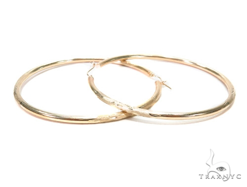 10k Yellow Hoop Earrings 42968 Style