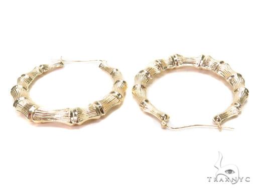 10k Yellow Hoop Earrings 42971 Style