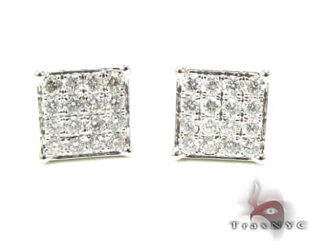 4 Row Prong Earrings Stone