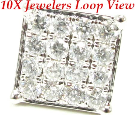 4 Row Prong Earrings Stone