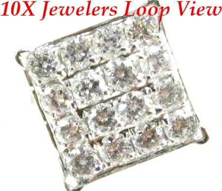 4 Row Tiny Pave Earrings Stone