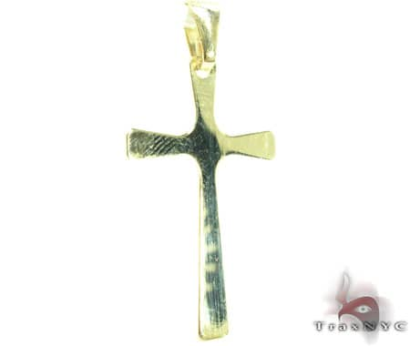 Simple Mens Cross Gold