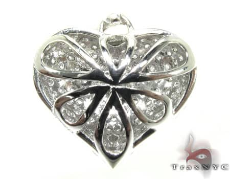 Tiny Heiress Heart Pendant 2 Stone