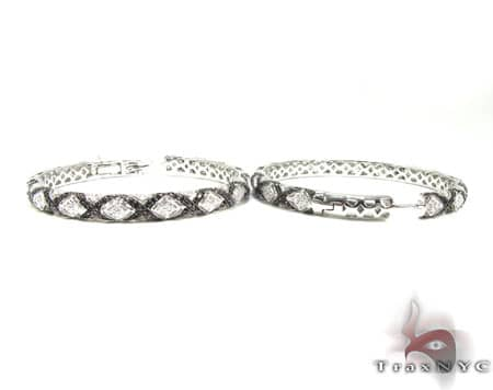 Eve Black & White Diamond Hoops Style