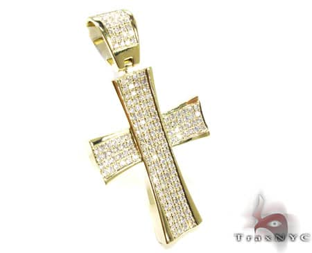 YG 4 Row San Paulo Cross Diamond