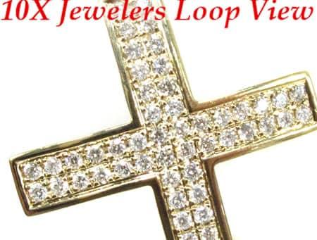 YG Manolo Cross Crucifix Diamond