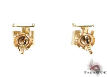 YG Mini 3 Row Earrings Stone