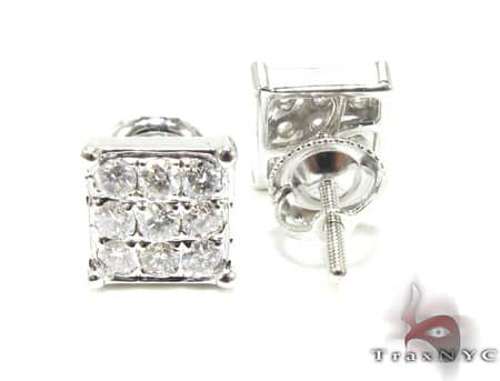 WG Mini 3 Row Earrings Stone