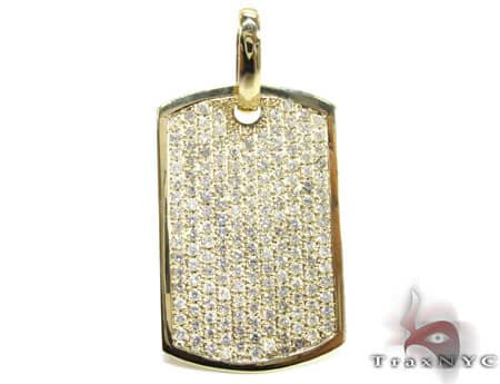 YG Pave XL Dog Tag Metal