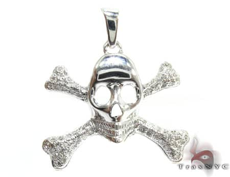 Skull & Cross Crucifixbones Pendant Metal