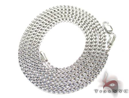 10K White Gold Franco Chain 24 Inches, 2mm, 7.7 Grams Gold