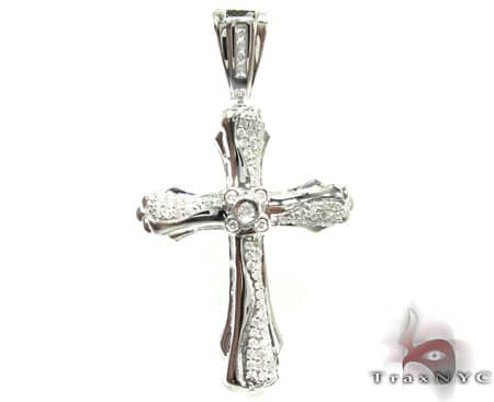 Center Bezel Cross Crucifix Diamond