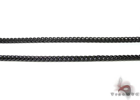 Black Stainless Steel Chain 40 Inches, 4mm, 61 Grams Stainless Steel