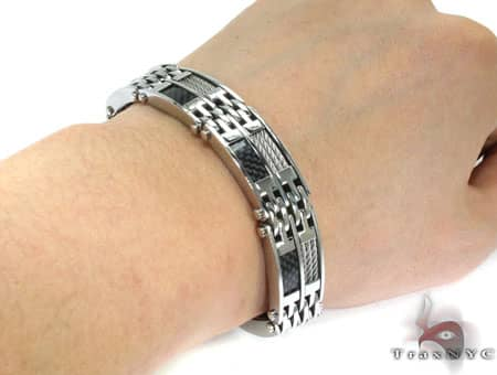 Wire Stainless Steel Bracelet BJB17 Stainless Steel