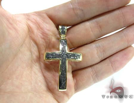 Gothic Black Diamond Junior Cross Diamond
