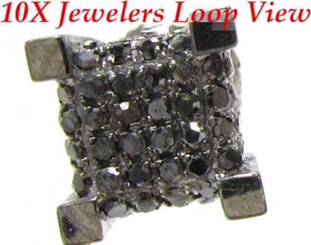 Black Ice Earrings 2 Stone