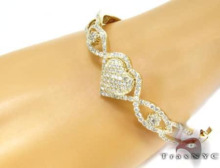 YG Heart of Gold Bracelet Diamond