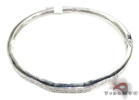 Goddess Bangle Bracelet Diamond