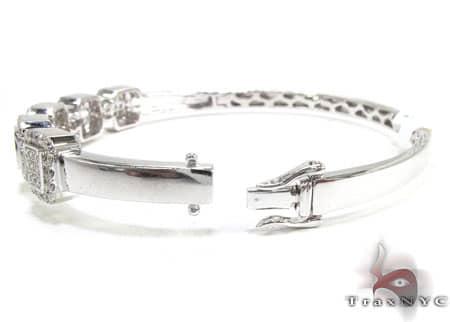 Pave Squares Bangle Bracelet Diamond