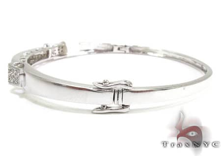 Elektra Bangle Bracelet Diamond