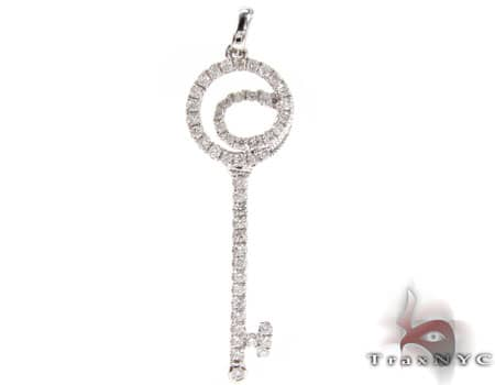 Abstract Key Pendant Stone
