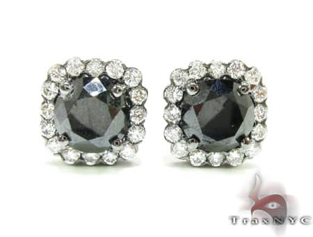 Heiress Black Diamond Earrings Stone