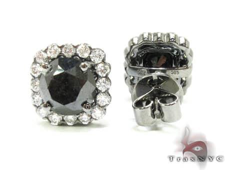 Heiress Black Diamond Earrings Stone