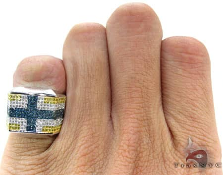 Unique Cross Pinky Ring Stone